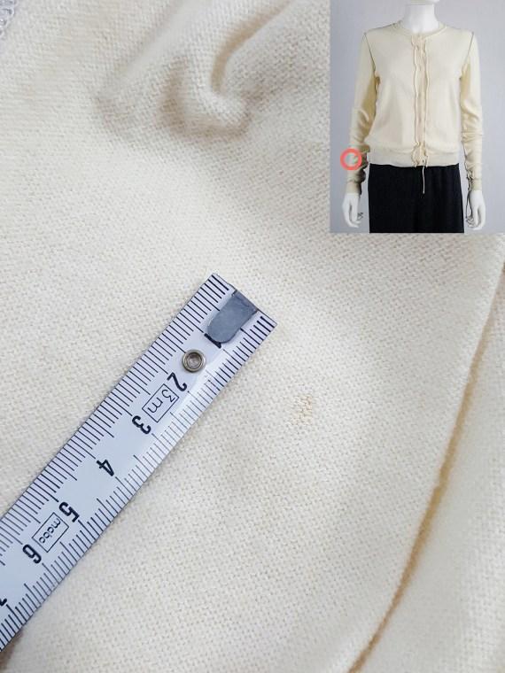 vintage Maison Martin Margiela beige inside out jumper with loose threads spring 2004 112624