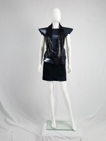 Maison Martin Margiela black glowmesh scarf or necklace spring 2006