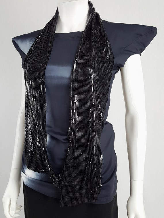 vintage Maison Martin Margiela black glowmesh scarf or necklace spring 2006 104920