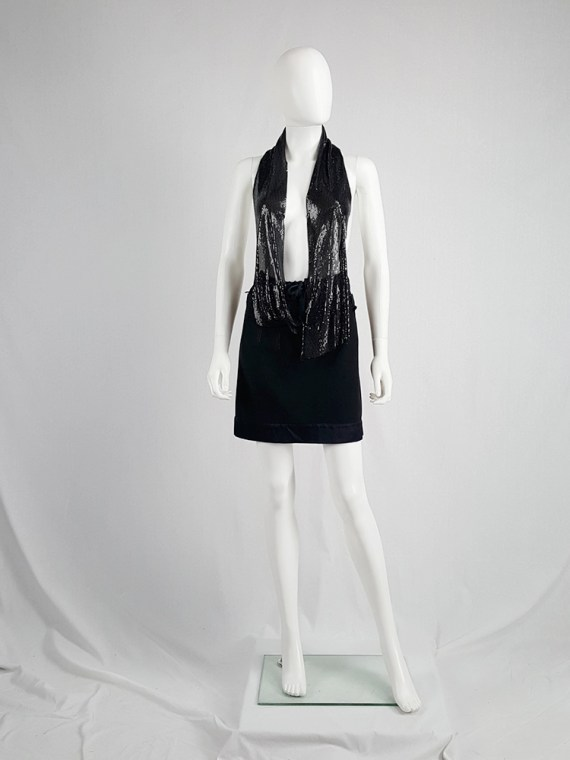 archive Maison Martin Margiela black glowmesh top spring 2006