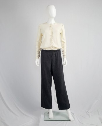 Maison Martin Margiela brown trousers in 'exclusive fabric' — fall 2004