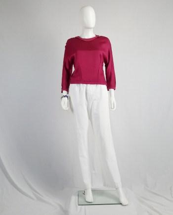 Maison Martin Margiela pink jumper 'reproduction of a dress lining' — fall 1995