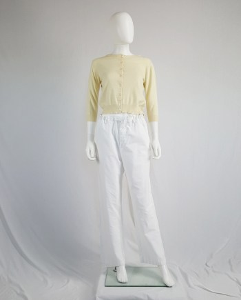Maison Martin Margiela white trousers with drawstring waist — spring 1993