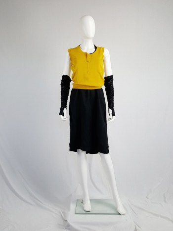 Maison Martin Margiela yellow top with torn details — spring 2006