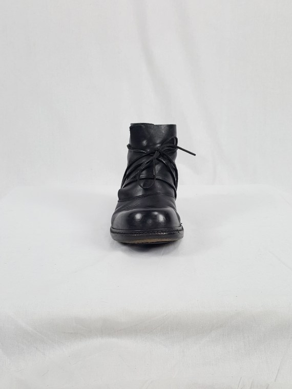 vaniitas vintage Dirk Bikkembergs black boots with laces through the soles 90s archive 120159