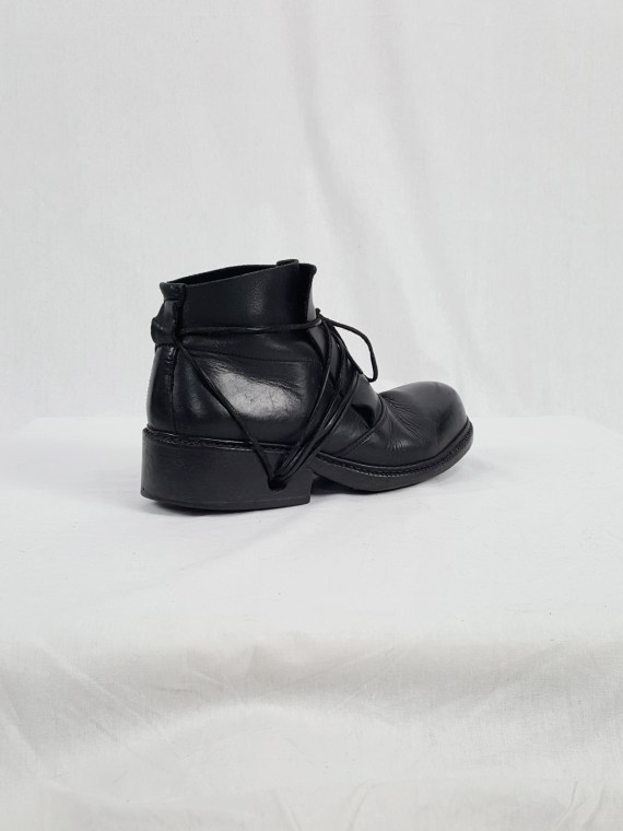 vaniitas vintage Dirk Bikkembergs black boots with laces through the soles 90s archive 120327