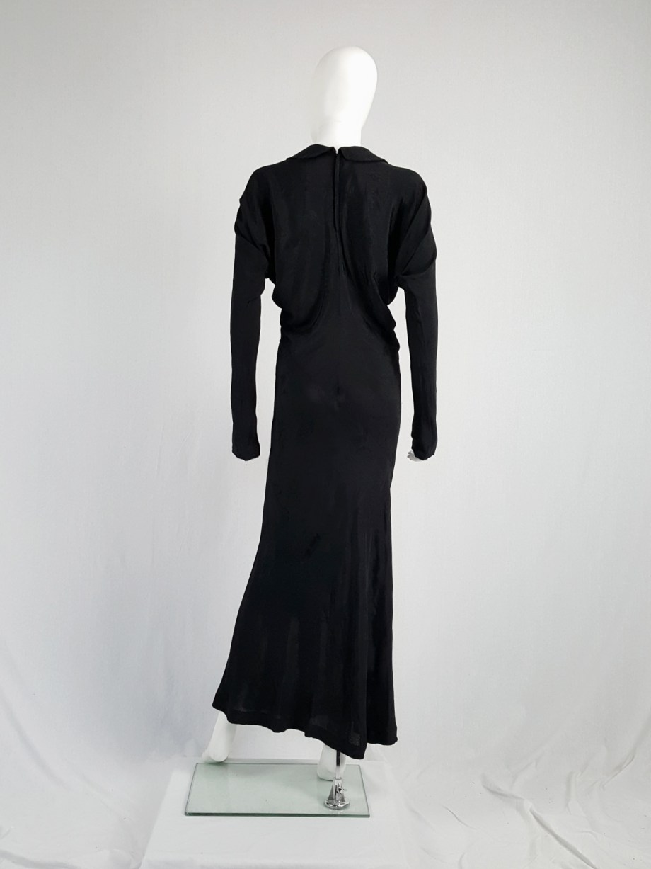 vintage Comme des Garcons black batwing maxi dress fall 1993 113040