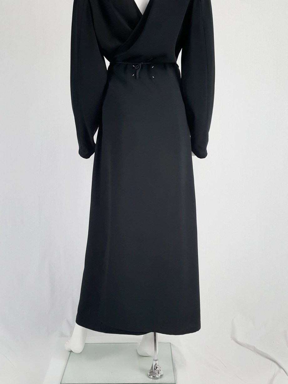 vintage Maison Martin Margiela black backwards maxi dress spring 1999 135730