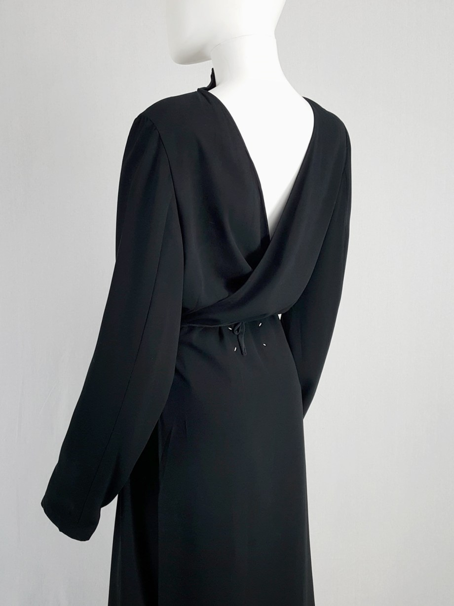 vintage Maison Martin Margiela black backwards maxi dress spring 1999 135914(0)