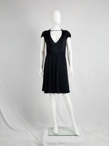 Maison Martin Margiela black dress with strap across the chest — spring 2007
