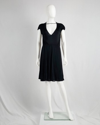 Maison Martin Margiela black dress with strap across the chest — spring 2007