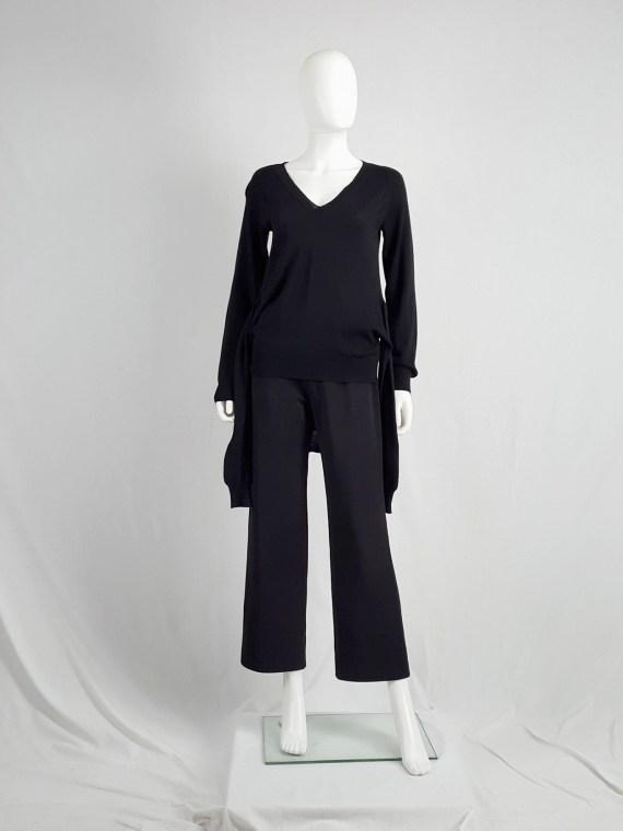 vintage Maison Martin Margiela black jumper with 4 sleeves fall 2007 153324