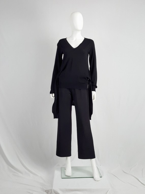 Maison Martin Margiela black jumper with 4 sleeves — fall 2007