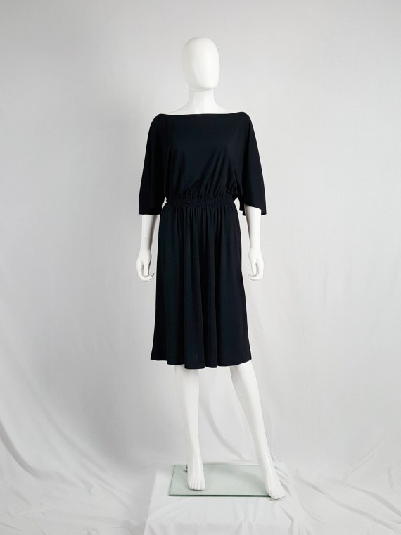 vintage Maison Martin Margiela replica black 1980s batwing dress fall 2005 152734
