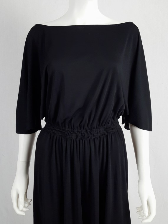 vintage Maison Martin Margiela replica black 1980s batwing dress fall 2005 152814