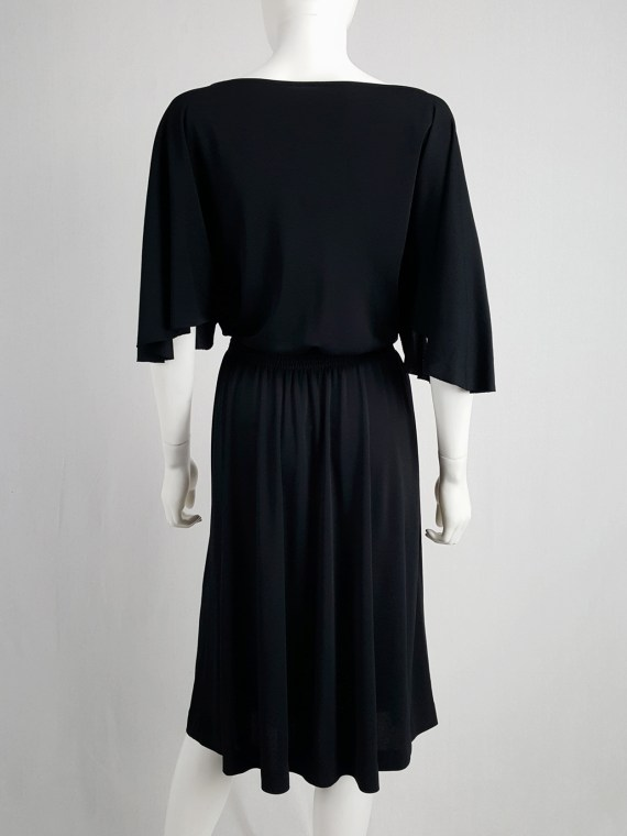 vintage Maison Martin Margiela replica black 1980s batwing dress fall 2005 153117
