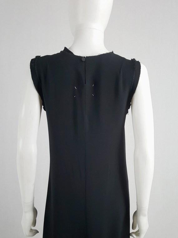 Maison Martin Margiela black sleeveless dress with circular hem — spring 2002