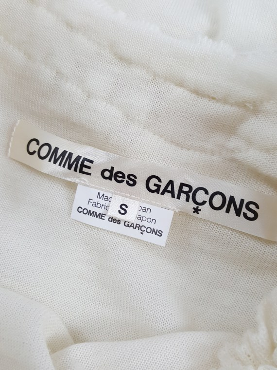 Comme des Garçons beige 2D top with ruffled trims — fall 2012