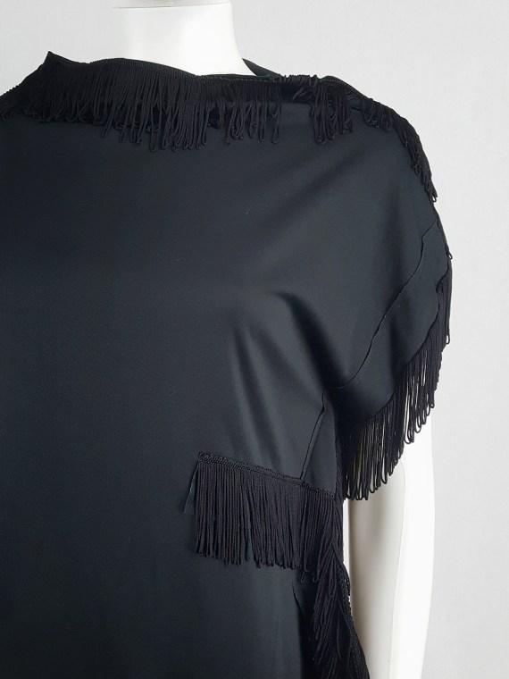 Comme des Garçons black 2D top with fringe trims — fall 2012