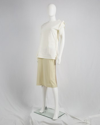 Maison Martin Margiela beige skirt with brown back — fall 1997