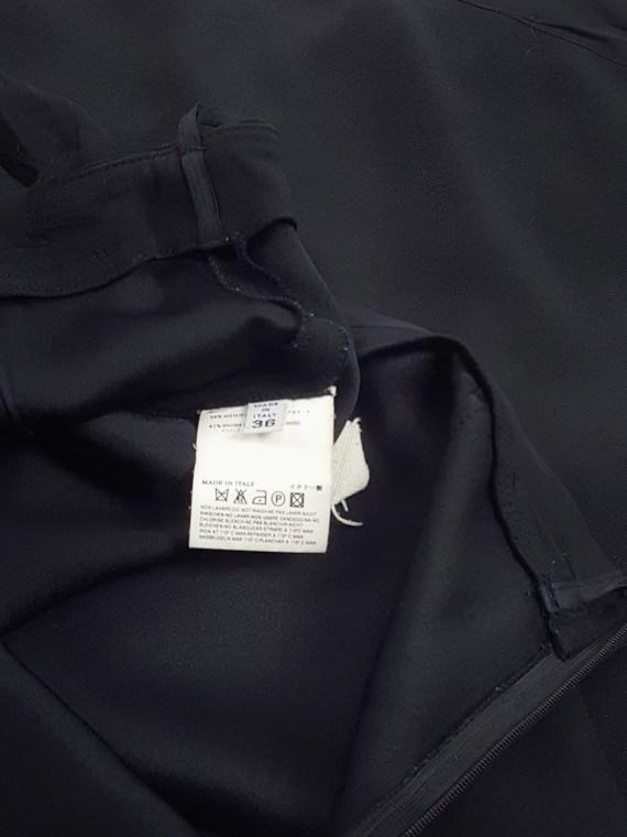 vaniitas vintage Maison Martin Margiela black skirt with silk torn trims spring 2006 155857