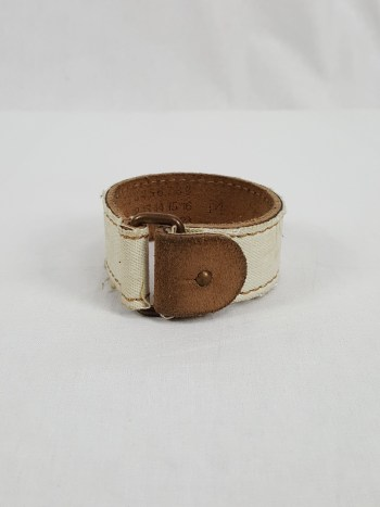 Maison Martin Margiela bleached denim and leather bracelet — spring 2003