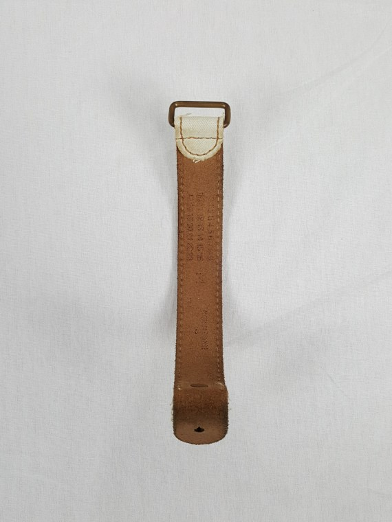 Maison Martin Margiela bleached denim and leather bracelet — spring 2003