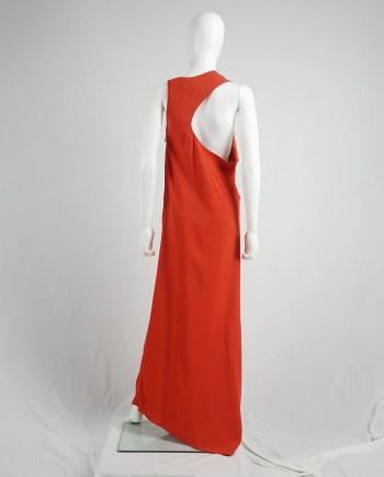 Maison Martin Margiela orange sideways-worn dress — spring 2005