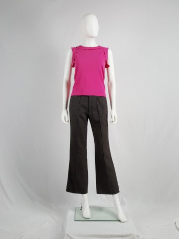 Maison Martin Margiela pink top with movable inside out seams — spring 2004