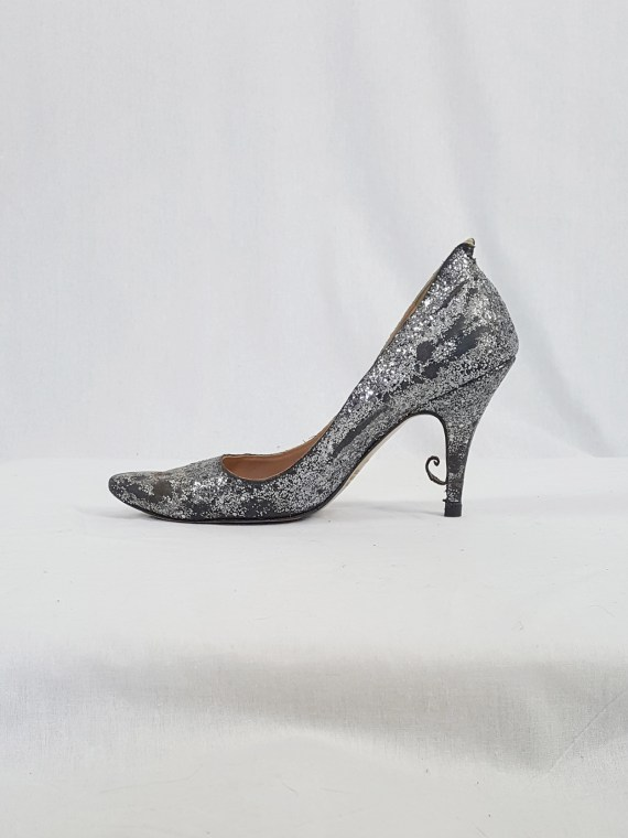 Maison Martin Margiela silver glitter afterparty pumps (37) — spring 2005
