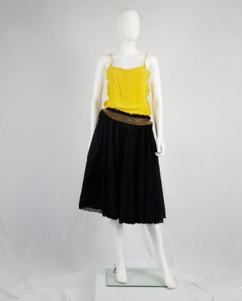 Maison Martin Margiela yellow top with torn seams — spring 2006