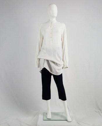 Ann Demeulemeester white draped oversized shirt — spring 1994