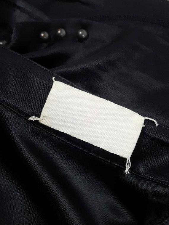 Maison Martin Margiela black skirt with round studs — fall 2006