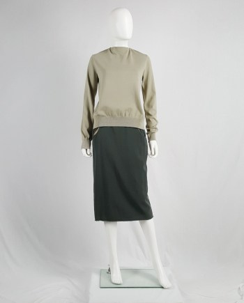 Maison Martin Margiela 6 beige jumper with open back by Miss Deanna