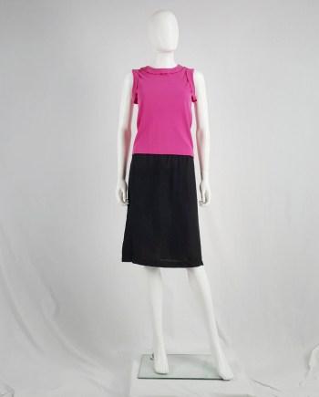 Maison Martin Margiela black lining skirt 'creation de Paris' — spring 1995