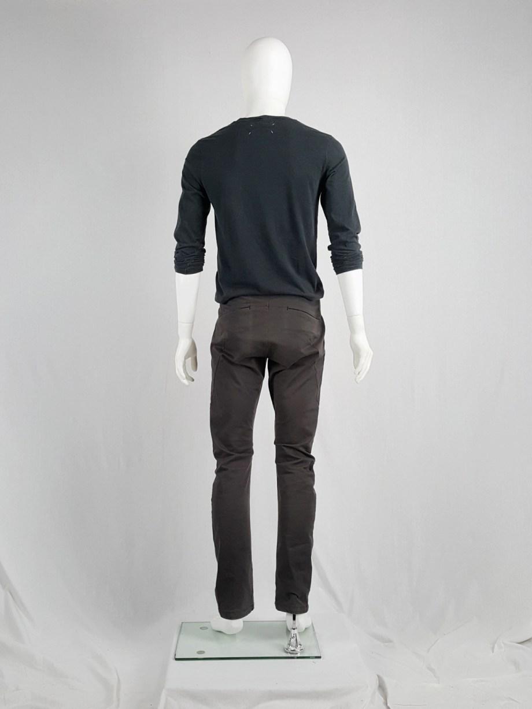 Attachment Kayuzuki Kumagai grey trousers with curved legs