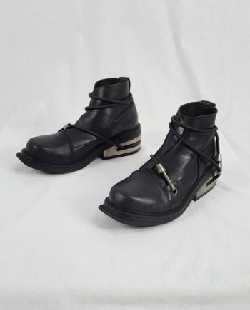 Dirk Bikkembergs black mountaineering boots with metal heel (41) — 1997