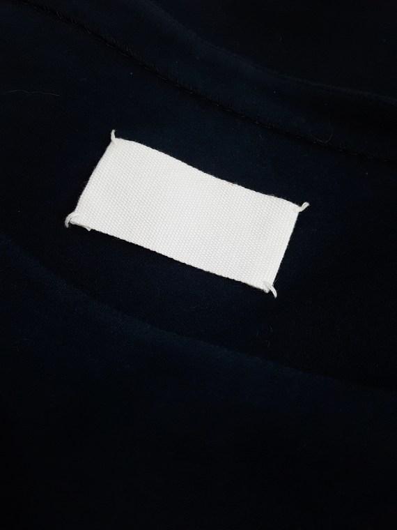 Maison Martin Margiela blue car seat cover t-shirt — fall 2006