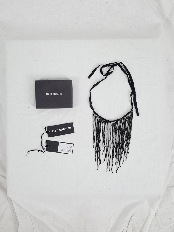 vaniitas Ann Demeulemeester black necklace with beaded fringe — spring 2012