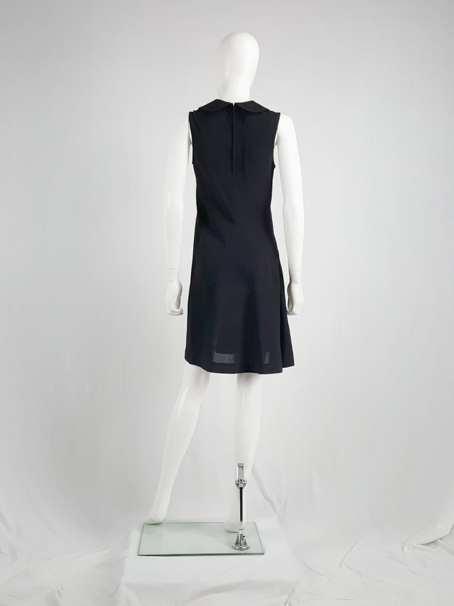 Comme des Garçons black deformed dress with round collar — spring 1995