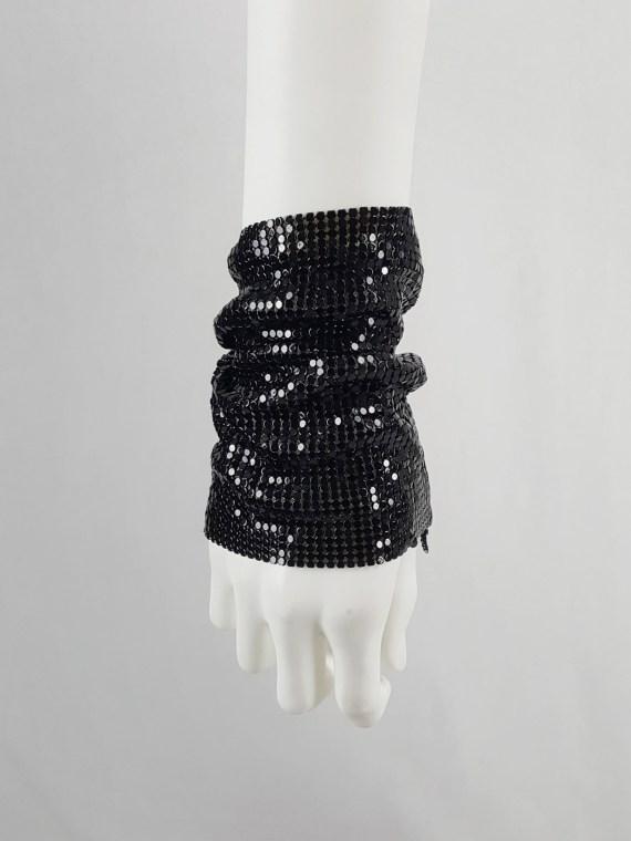 Maison Martin Margiela black glowmesh bracelet — spring 2006