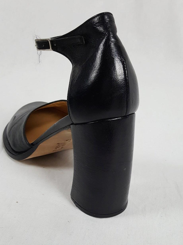 Ann Demeulemeester black banana heel pumps (38) — 90's