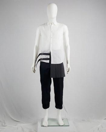 Comme des Garçons Homme Plus grey belted half-skirt — spring 2009