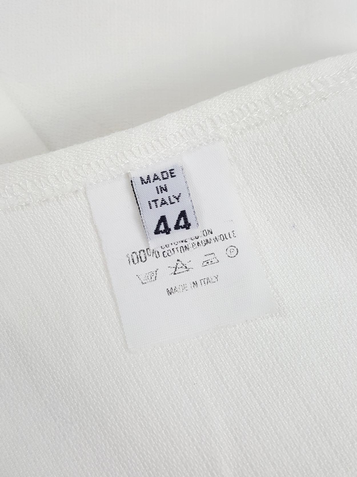 hot sale online 2eb64 56053 Maison Martin Margiela 6 white backless crop top — 1997/1998 ...