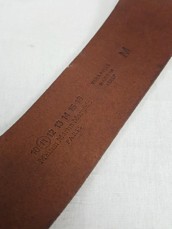 vaniitas vintage Maison Martin Margiela white leather bracelet with embossed logo spring 2009 112328