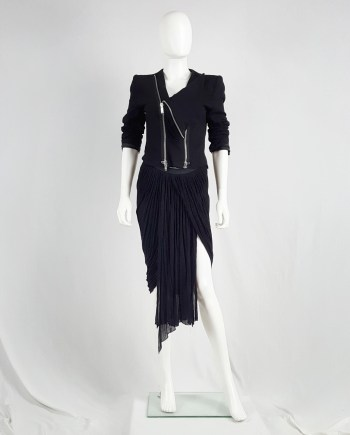 Rick Owens NASKA black heavily draped skirt — spring 2012