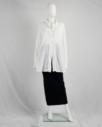 Ann Demeulemeester white painter shirt with back straps