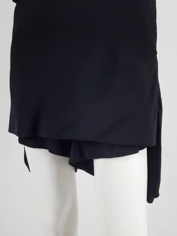 Rick Owens ANTHEM black silk lotus shorts — spring 2011