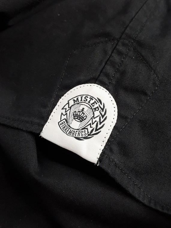 Vaniitas Dirk Bikkembergs black shirt with displaced collar 165300