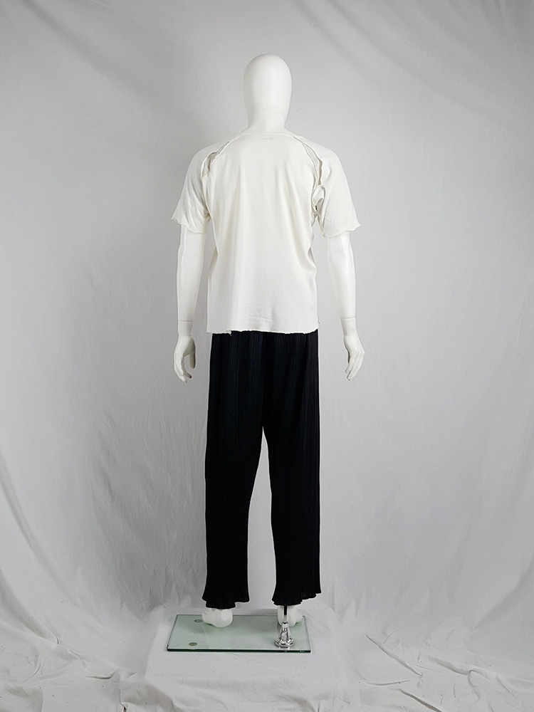Yohji Yamamoto Y's for men white inside out t-shirt — 80's